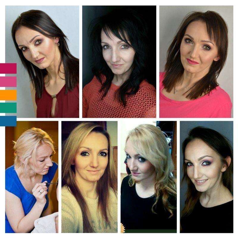 Analiza kolorystyczna Panna Flora Zakopane, różne kolory włosów , od brunetki do blondynki